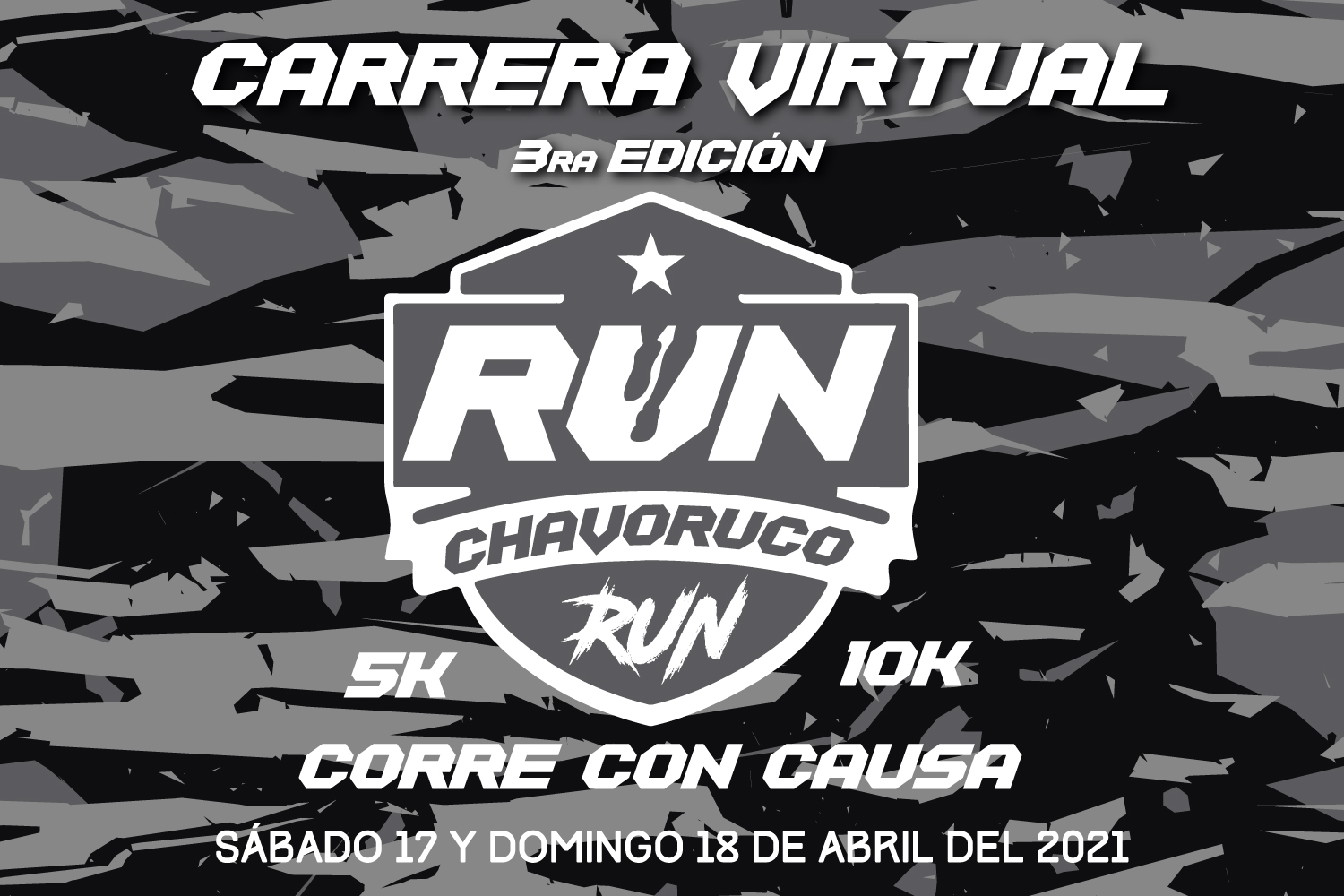 CARRERA VIRTUAL 3RA EDICION RUN CHAVORUCO RUN 5K Y 10K