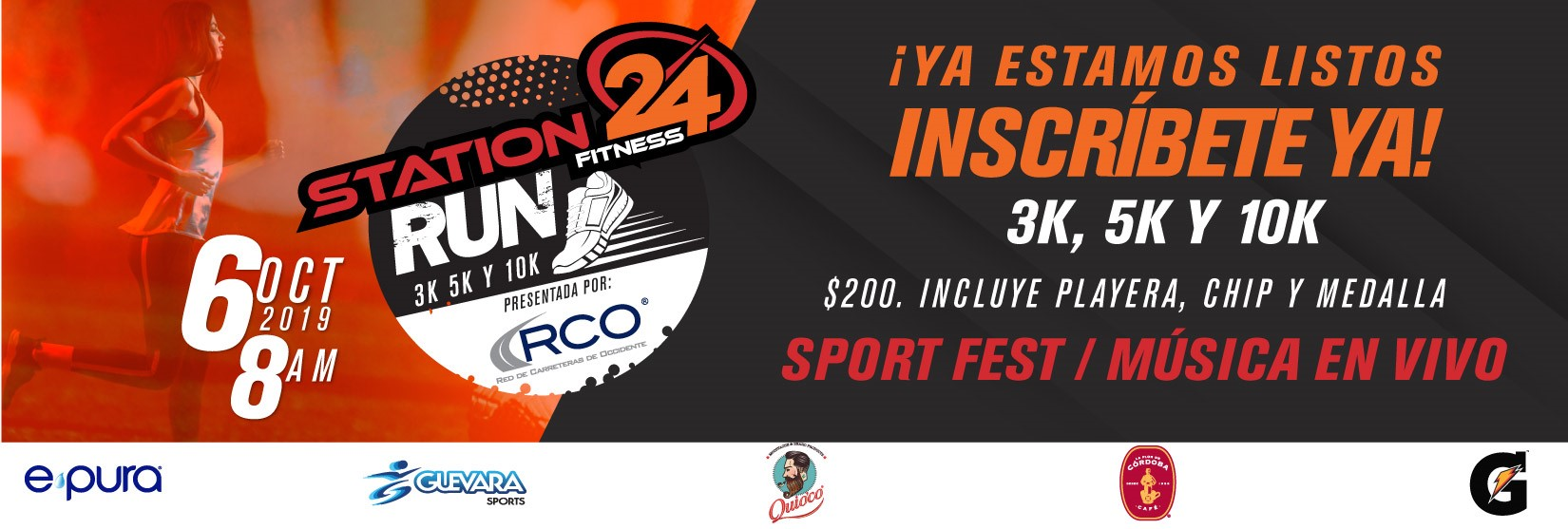 CARRERA RUN STATION 24 FITNESS PRESENTADA POR RCO